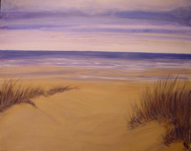 North Sea Belgian beach by Liliane