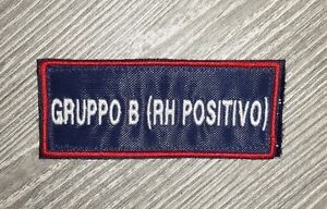 Patch Gruppo B (RH positivo) - Bordo Rosso - Nuovo - Doppio Velcro | eBay
