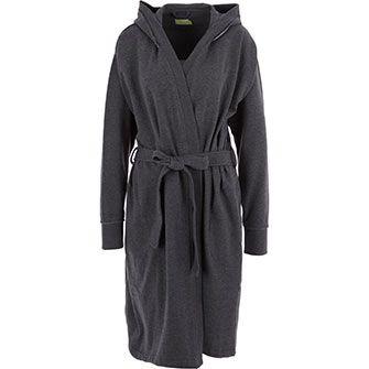 Charcoal Fleece Lined Robe