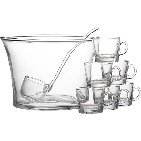 Home Sweet Home Gifts: Crate & Barrel 10-piece punch bowl set -- http://eat-drink-garden.com/2012/12/holiday-gift-guide-home-sweet-home/