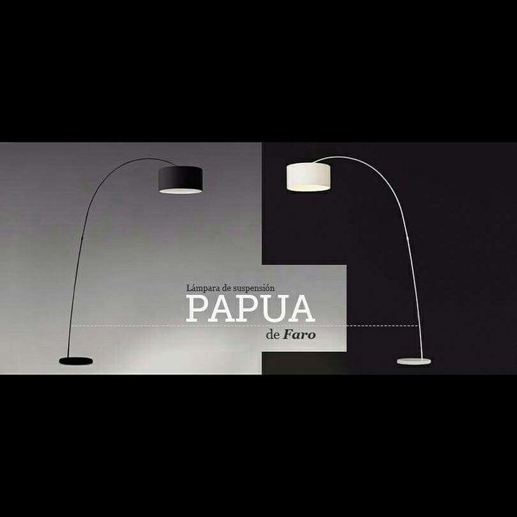 La lámpara Papua está inspirada en las curvas de las lianas amazónicas, y se fusiona con el estilo purista y minimalista de Faro. ¿Te va más en blanco o en negro?  #Ottoyanna #onlinestore #lights #decor #interiorism #faro #papua