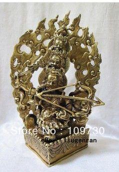 Бир 00590 Тибет Тибетский Буддизм Бронзовый Ло Ху Ло Ссылок звезда Ла Хула Дхарма как будда