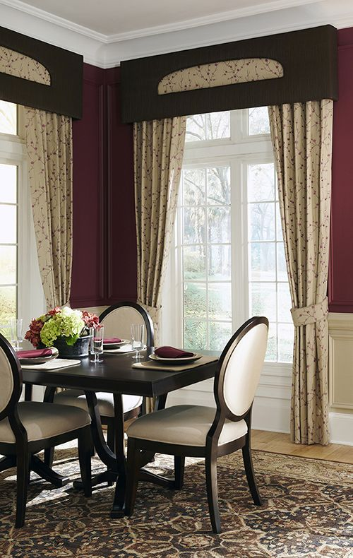 176 best images about cornice diy ideas on pinterest for Dining room window treatments