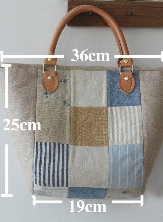 Linen Fabric Bag/ Handbag/ Woman Purses/ Wedding by burlapdesign