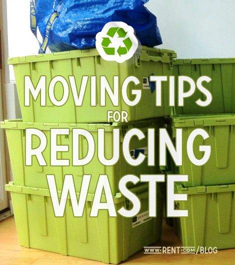 1,580 pounds of waste are generated per person each year! Here are some moving tips to reduce waste. [Rent.com Blog]  #moving #ecofriendly #gogreen #greenliving #recycle