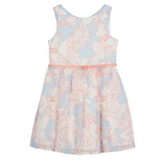 J by Jasper Conran Girls' light blue floral print burnout striped prom dress   Hayley Taylor on WeShop