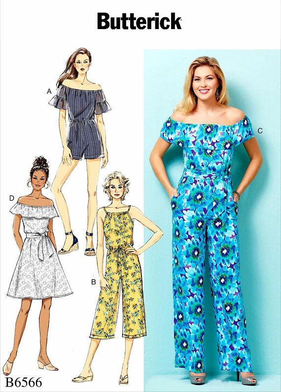 Sewing Pattern Women\'s Jumpsuit Pattern, Women\'s Romper Pattern, Off ...