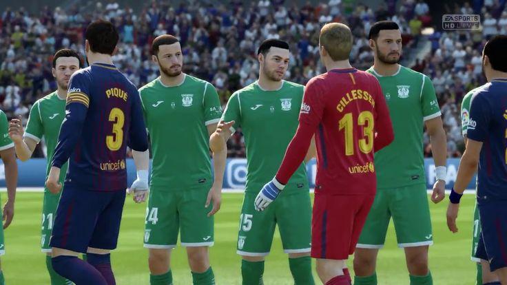 FC Barcelona vs Leganes 6-0 Full Match FIFA 18 PC Gameplay HD