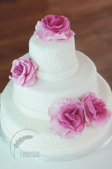 Svatební dort, wedding cake, roses