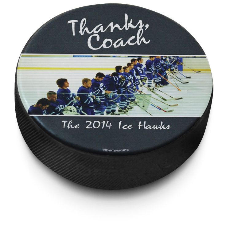 Personalized Hockey Puck | ChalkTalkSPORTS.com
