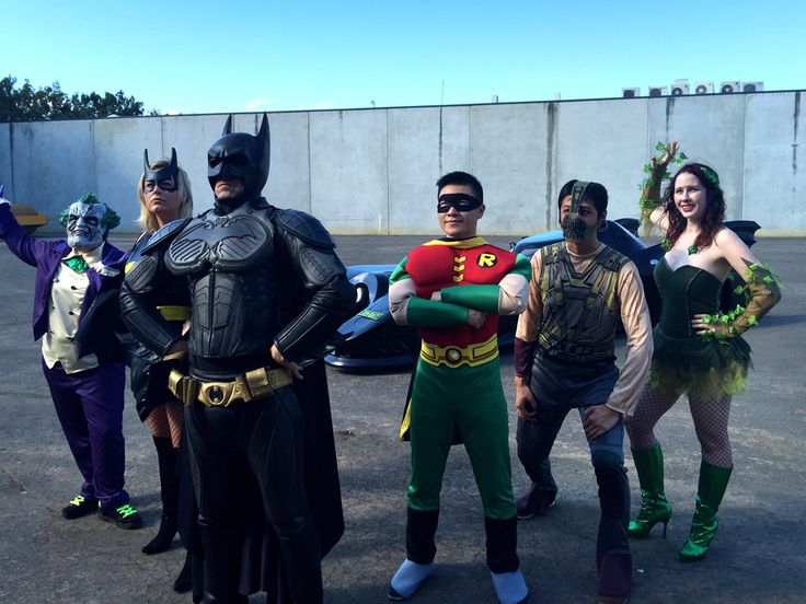 batman and a few of the costumes we'll have in the parade!