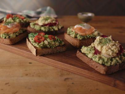 Avocado Toast Three Ways Recipe : Bobby Flay : Food Network