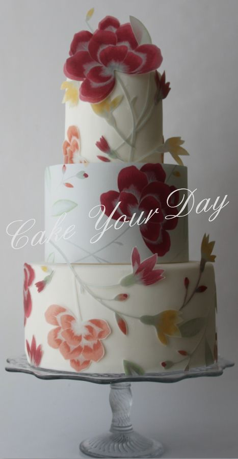 Very pretty! ~ all decorations made of wafer paper and entirely edible