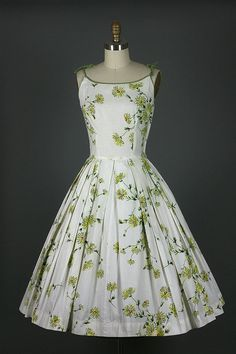 Love the shape of this vintage floral dress.