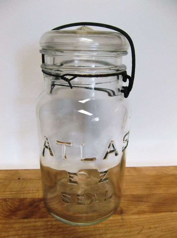 Antique Atlas E Z Seal Quart Canning Jar With Lid Jars