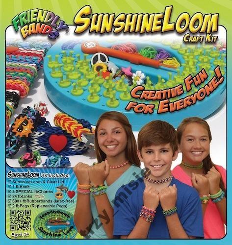Tęczowe bransoletki z gumek Sunshine Loom, SUPER!