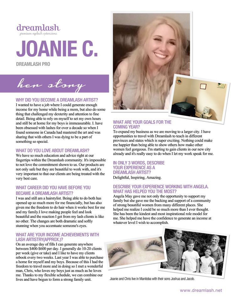 Meet Joanie, Dreamlash Lash Artist.