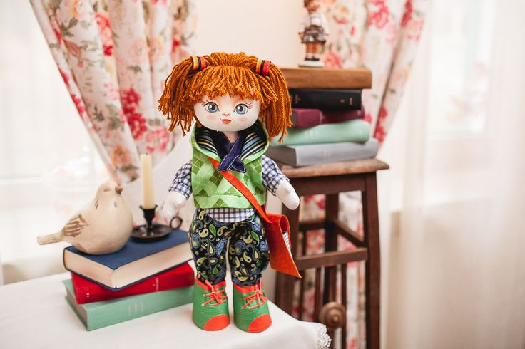 K1003 Excellent student. Doll sewing kit KUKLA NOVA #nova_sloboda #sewing #handmade #doll #toy #kukla_nova