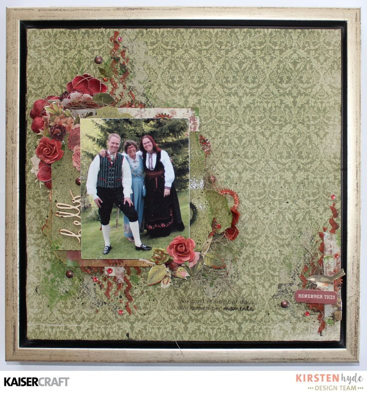 Mixed media layout with Cherry Tree Lane – Kaisercraft Official Blog