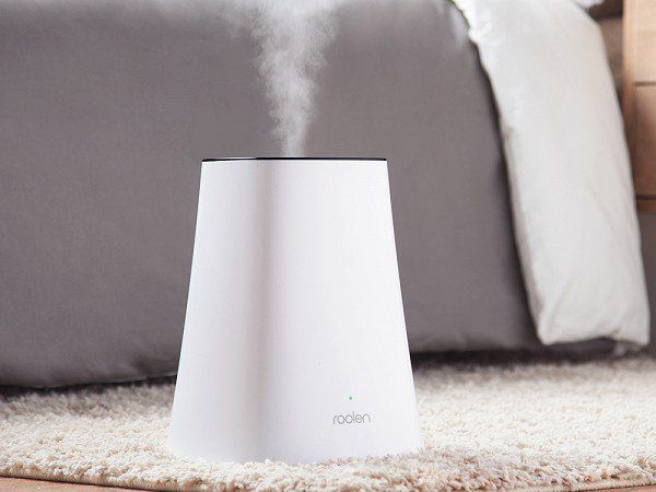 "This quiet humidifier, discovered by The Grommet, ""reads"" its environment and responds accordingly combining smart technology with an intuitive interface.  Modern minimalist tech"