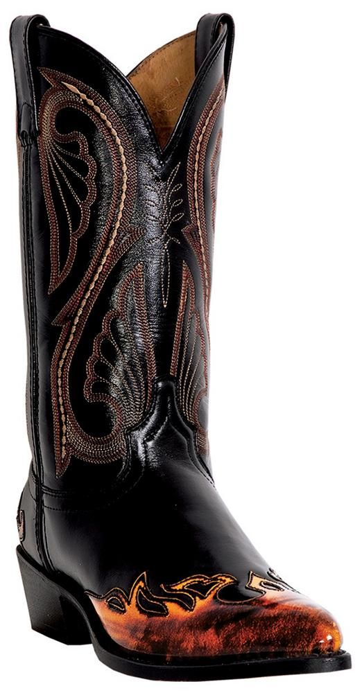 "Men's Laredo 12"" Western Flame Boots, Black $134.97"