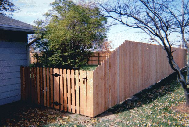 Dog Ear Privacy Fence Tapered To Dog Ear Space Picket