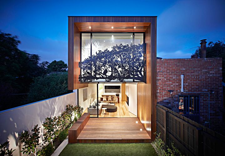Nicholson Residence - 'Treetop House' in Middle Park, Victoria, Australia. Extension & Renovation by Matt Gibson Architecture + Design. Photo: John Wheatley