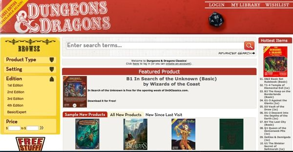 Dungeons And Dragons Classics Archive Now Available Online In PDF Form
