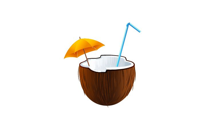 Coconut Cocktail Vector Image #coconut #summer #cocktails http://www.vectorvice.com/summer-cocktails-pack