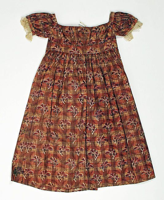 Dress Date: 1822–25 Culture: American Medium: cotton Dimensions: Length (skirt only): 19 1/2 in. (49.5 cm) Credit Line: Gift of Mrs. Adell P...
