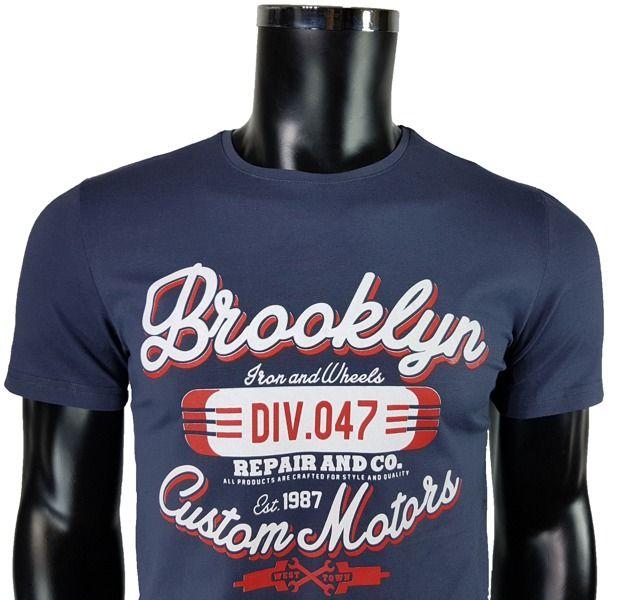 T-Shirt męski z nadrukiem - - T-shirty męskie - Awii, Odzież męska, Ubrania męskie, Dla mężczyzn, Sklep internetowy