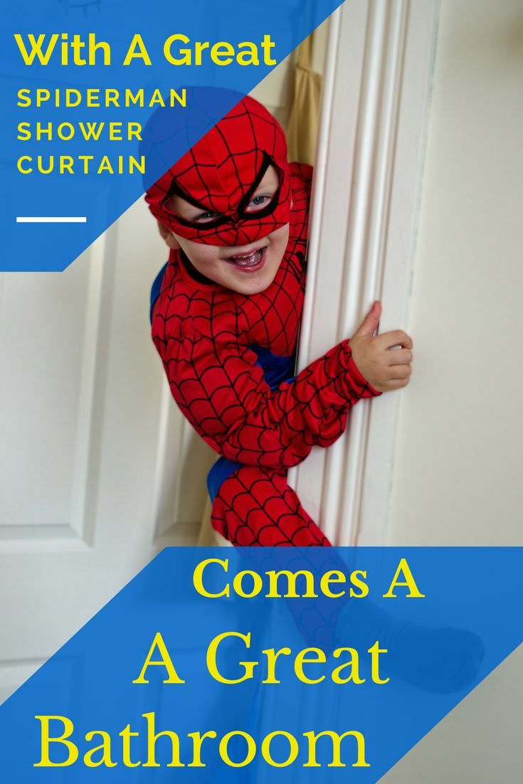 Spiderman Shower Curtain Your Boy Will Flip Over A For His Bathroom Kids Love And What Huge Selection Of