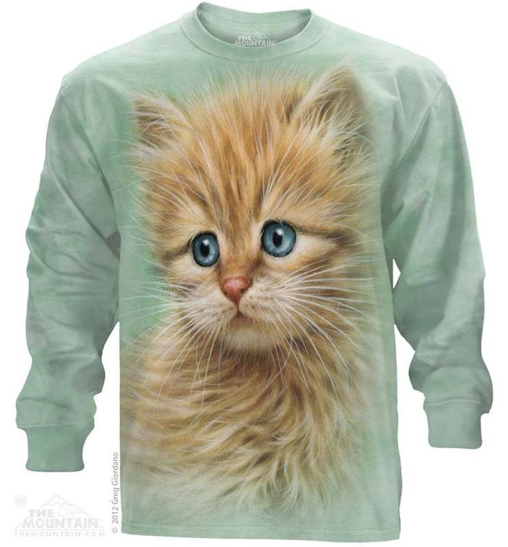 Kitten Portrait Long Sleeve T-Shirt - Womens Clothing - - Women T-Shirt - T-Shirts for women - Mens Clothing - Mens t-shirts - t-shirt for men - Unisex T-Shirts - Cotton T-Shirts - Long Sleeve T-Shirts - Long Sleeve T-Shirt - Christmas Ideas - Presents for Christmas