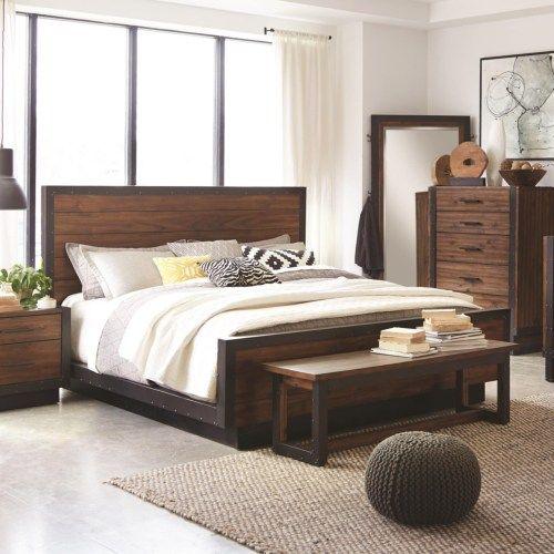 Scott Living Ellison Industrial King Platform Bed - Coaster Fine Furniture