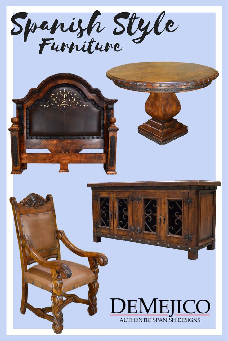 Nice Manufacturing Authentic, Spanish Style Furniture. Hand Crafted From Solid  Woods, With Hand Carved