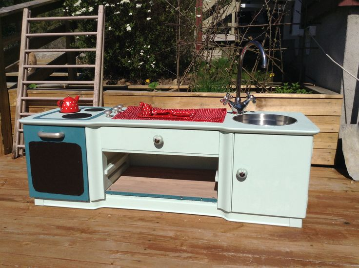 Diy playkitchen :) made by me. The kid absolutely loved it!