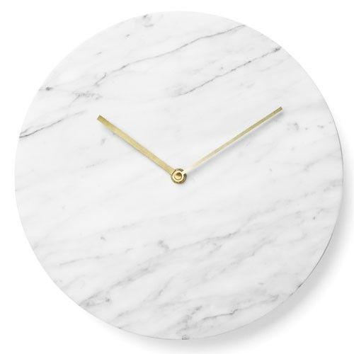horloge murale menu marbre blanc