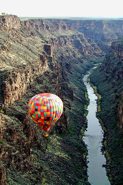hot air balloon ride in New Mexico.