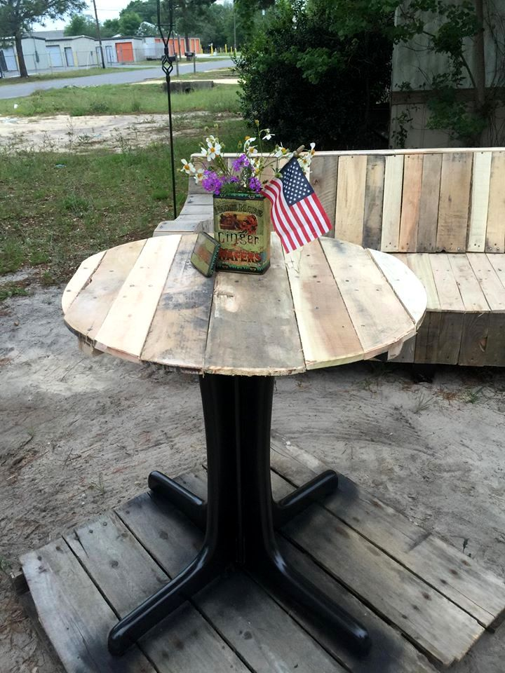 pedestal old metal table base has also
