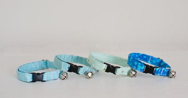 Cat Collar-Male Cat Collar-Female Cat Collar-Blue Cat Collar-Breakaway Cat Collar-Designer Cat Collar-Custom Cat Collar-Soft Cat Collar by SLWdesignsCo on Etsy