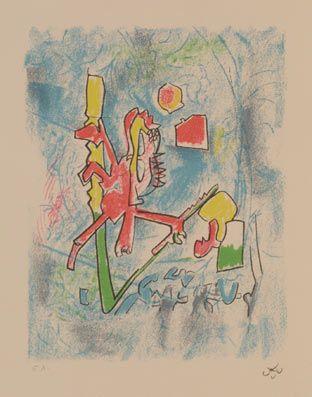 "Matta ""XX Siècle"", 1975. Litografía sobre Piedra de 32x25 cm., Papel Arches de 250 gr. de medidas 44,5x36 cm. Ej.: 99  + algún EA #art #litograph"