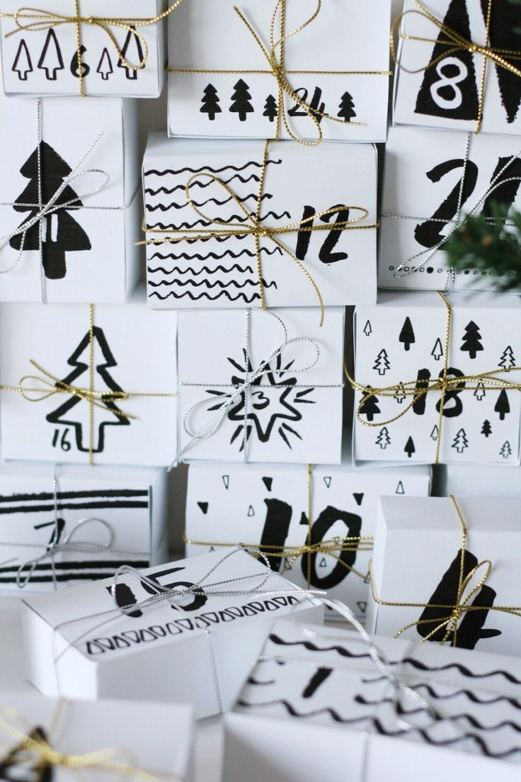 Advent calendar DIY printable // Free download - Pure Sweet Joy
