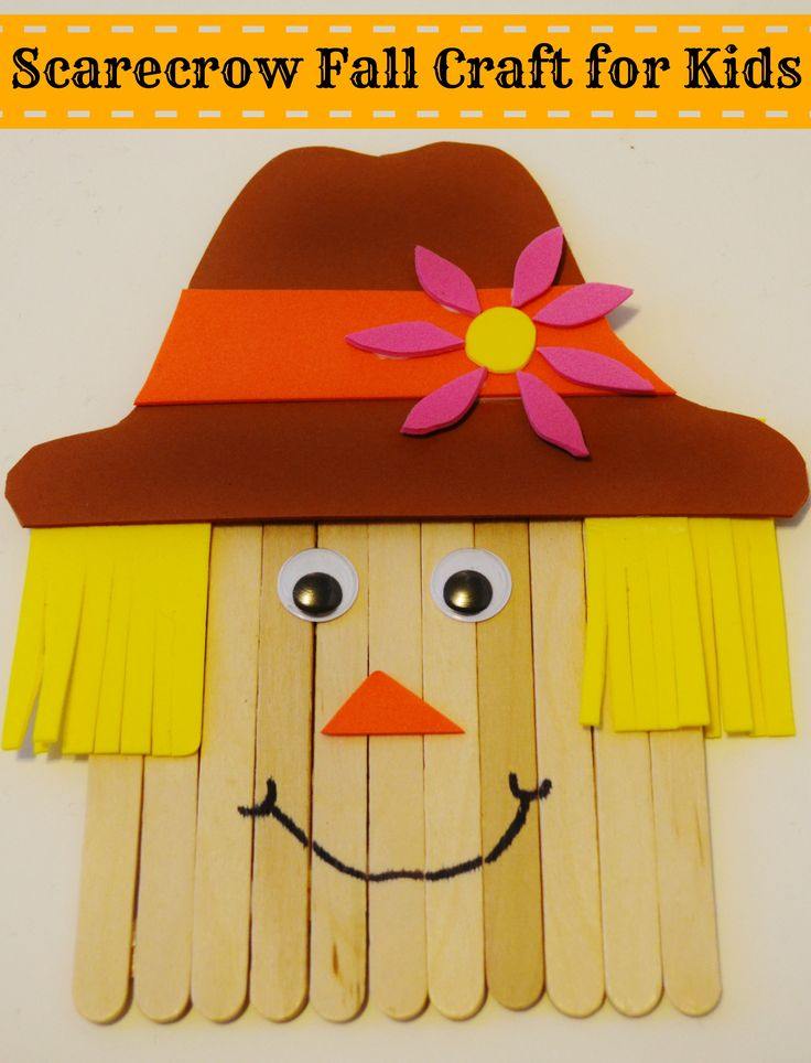 Grab your kids and sit down to make this fun scarecrow craft using craft sticks! Great for all ages in large groups or small!