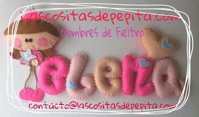 Las cositas de Pepita: Nombres de Fieltro Infantiles súper Originales y U...