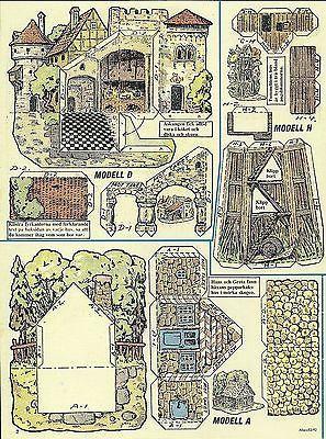 Бумага игровой домик вырезок из Швеции замок суд фермерский дом садовой беседки