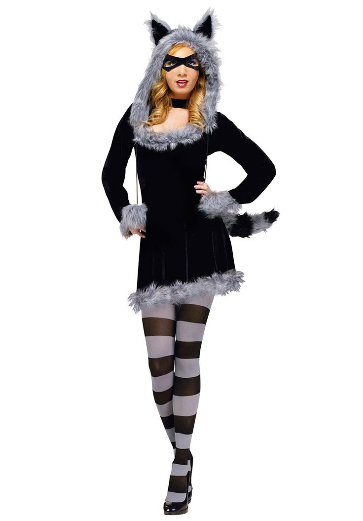 Racy Raccoon Costume, Ladies Fancy Dress - Animals at Escapade