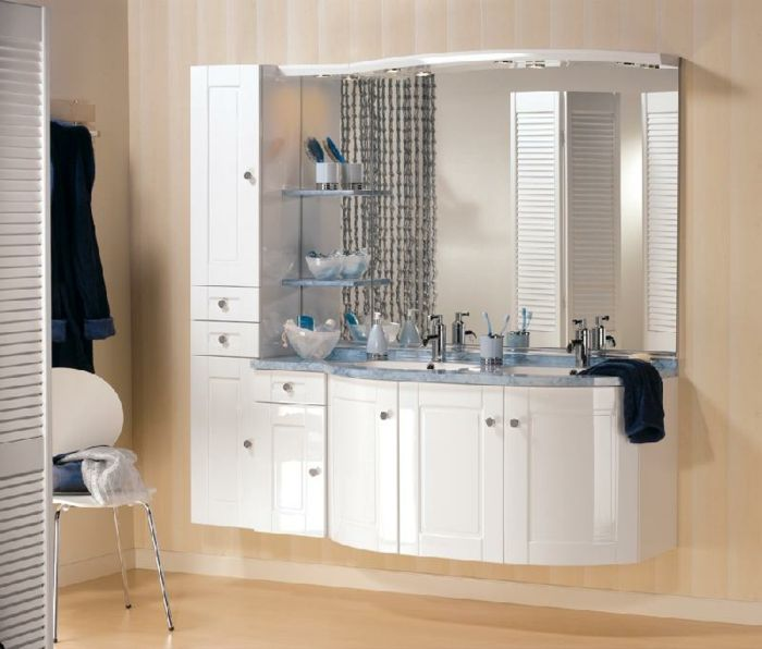 Wandschrank für Badezimmer groß weiß Salle de bain Pinterest Fur - badezimmer wandschrank