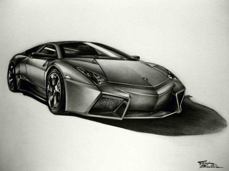 Lamborghini Reventon - Desen în Creion de Corina Olosutean // Lamborghini Reventon - Pencil Drawing by Corina Olosutean