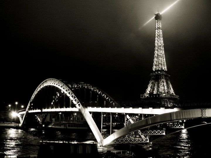 bridge in paris night - Szukaj w Google