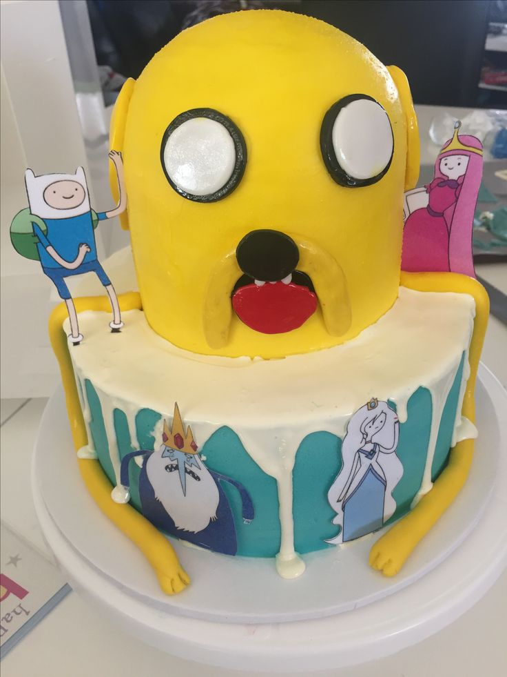 Adventure Time Birthday Cake.